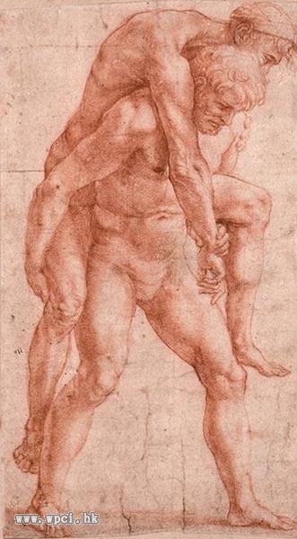 背着老人的男人,约1513-1514